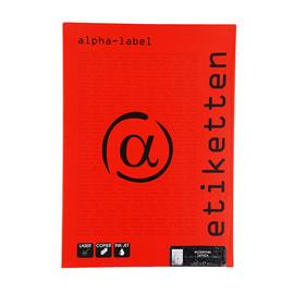 Etiketten Inkjet+Laser+Kopier 105x57mm auf A4 Bögen weiß 5921 (PACK=1000 STÜCK) Produktbild