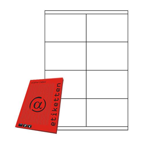 Etiketten Inkjet+Laser+Kopier 105x70mm auf A4 Bögen weiß 5922 (PACK=800 STÜCK) Produktbild Front View L
