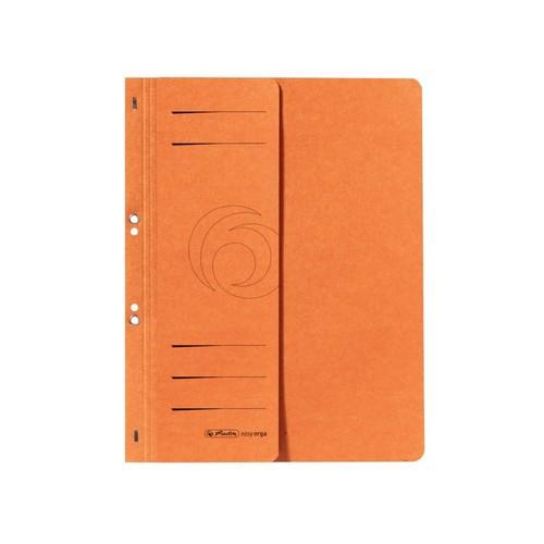 Ösenhefter 1/2 Vorderdeckel kaufmännische Heftung 238x305mm orange Karton Herlitz 10837359 Produktbild