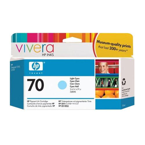 Tintenpatrone 70 für HP DesignJet Z2100/Z3200 130ml cyan hell HP C9390A Produktbild Front View L