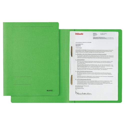Schnellhefter Fresh A4 grün Karton Leitz 3003-00-55 Produktbild Front View L