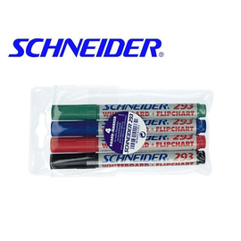 Kombimarker Maxx 293 Etui 1-4mm Keilspitze sortiert Schneider 129394 (ETUI=4 STÜCK) Produktbild