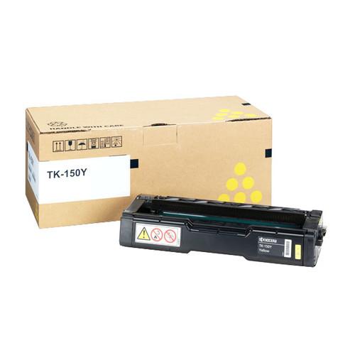 Toner TK-150Y für FS-C1020 6000Seiten yellow Kyocera 1T05JKANL0 Produktbild Front View L