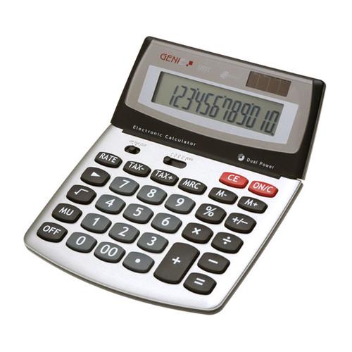 Tischrechner 12-stelliges Display 560T 200x160x35mm Solar-/Batteriebetrieb Genie Produktbild Front View L