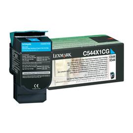 Toner für Optra C540N/C543DN 4000Seiten cyan Lexmark C544X1CG Produktbild