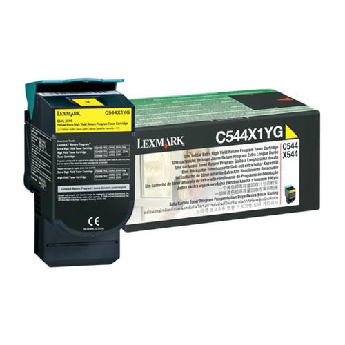 Toner für Optra C540N/C543DN 4000Seiten yellow Lexmark C544X1YG Produktbild Front View L
