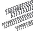 Draht-Binderücken 2:1-Teilung 28,5mm ø bis 250Blatt schwarz Renz 322850123 (PACK=20 STÜCK) Produktbild