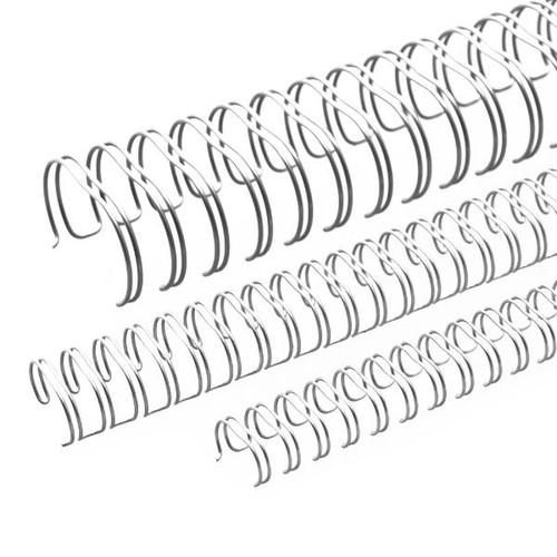 Draht-Binderücken 3:1-Teilung 6,9mm ø bis 45Blatt NN-silber glänzend Renz 310690634 (PACK=100 STÜCK) Produktbild Front View L