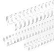 Draht-Binderücken 3:1-Teilung 14,3mm ø bis 120Blatt weiß Renz 311430034 (PACK=50 STÜCK) Produktbild