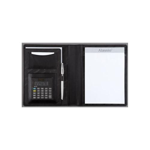 Schreibmappe A5 BORMIO I mit Taschenrechner Lederimitat Alassio 43008-1 Produktbild Front View L