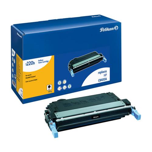 Toner Gr. 1220 (CB400A) für Color LaserJet CP4005 7500Seiten schwarz Pelikan 4207210 Produktbild Front View L