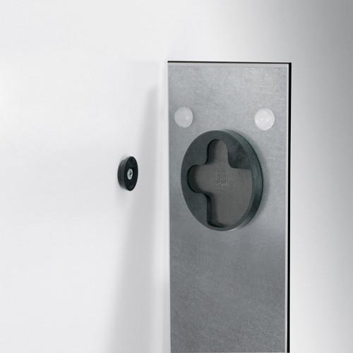 Glas-Magnetboard artverum 120x780x15mm schwarz inkl. Magnete Sigel GL100 Produktbild Additional View 1 L