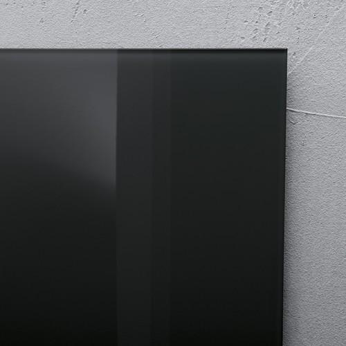 Glas-Magnetboard artverum 120x780x15mm schwarz inkl. Magnete Sigel GL100 Produktbild Additional View 3 L