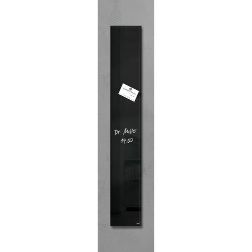 Glas-Magnetboard artverum 120x780x15mm schwarz inkl. Magnete Sigel GL100 Produktbild