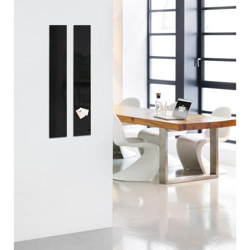Glas-Magnetboard artverum 120x780x15mm schwarz inkl. Magnete Sigel GL100 Produktbild Additional View 6 L