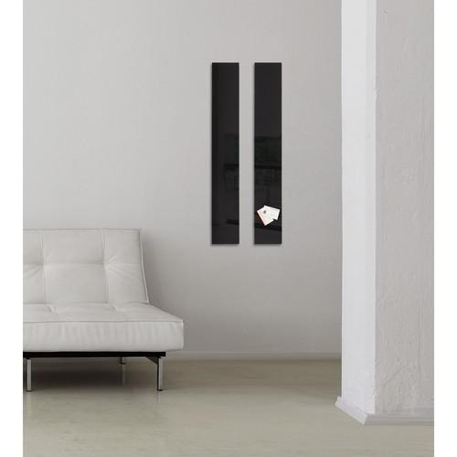 Glas-Magnetboard artverum 120x780x15mm schwarz inkl. Magnete Sigel GL100 Produktbild Additional View 7 L