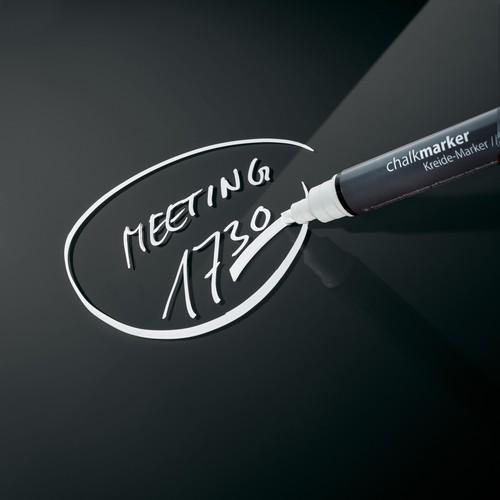 Glas-Magnetboard artverum 120x780x15mm schwarz inkl. Magnete Sigel GL100 Produktbild Additional View 5 L
