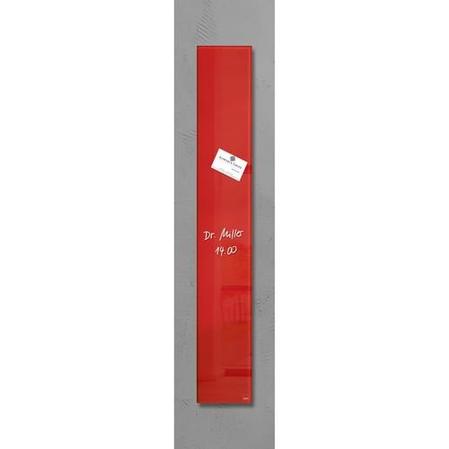 Glas-Magnetboard artverum 120x780x15mm rot inkl. Magnete Sigel GL104 Produktbild