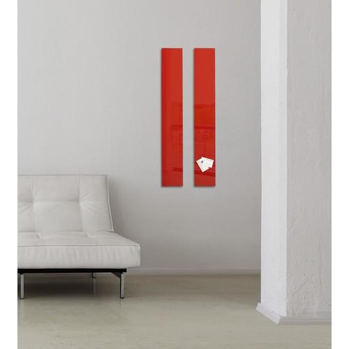 Glas-Magnetboard artverum 120x780x15mm rot inkl. Magnete Sigel GL104 Produktbild Additional View 7 L