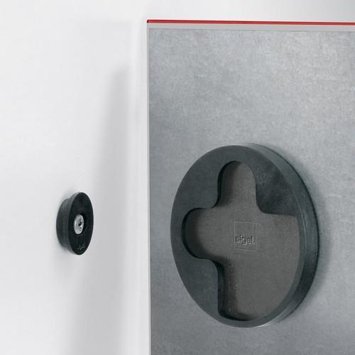 Glas-Magnetboard artverum 480x480x15mm rot inkl. Magnete Sigel GL114 Produktbild Additional View 1 L