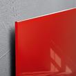 Glas-Magnetboard artverum 480x480x15mm rot inkl. Magnete Sigel GL114 Produktbild Additional View 2 S