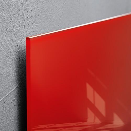 Glas-Magnetboard artverum 480x480x15mm rot inkl. Magnete Sigel GL114 Produktbild Additional View 2 L