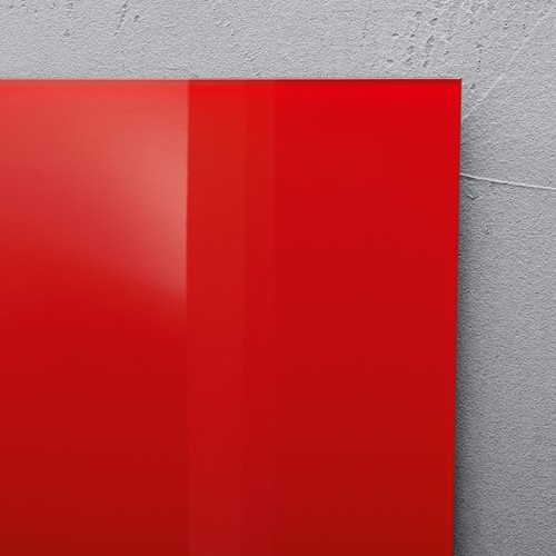 Glas-Magnetboard artverum 480x480x15mm rot inkl. Magnete Sigel GL114 Produktbild Additional View 3 L