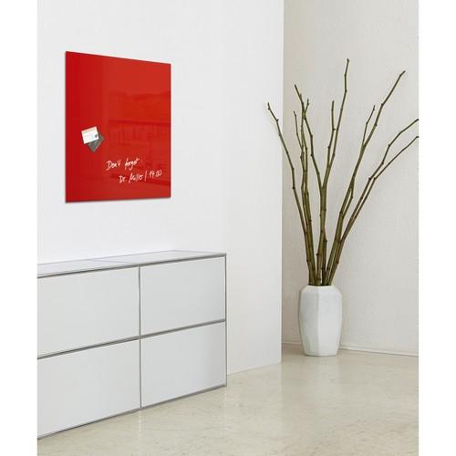 Glas-Magnetboard artverum 480x480x15mm rot inkl. Magnete Sigel GL114 Produktbild Additional View 6 L