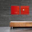 Glas-Magnetboard artverum 480x480x15mm rot inkl. Magnete Sigel GL114 Produktbild Additional View 7 S