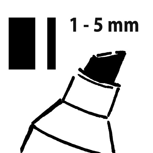 Kreidemarker 50 artverum 1-5mm Keilspitze schwarz abwischbar Sigel GL180 Produktbild Additional View 6 L