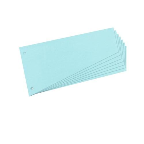 Trennstreifen TRAPEZ gelocht 120x230mm blau recycling Karton Herlitz 10836526 (PACK=100 STÜCK) Produktbild
