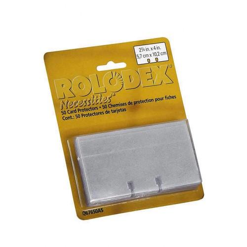 Ersatzkarten Rolodex 57x102mm weiß Papier Sanford S0793490 (PACK=100 STÜCK) Produktbild Front View L