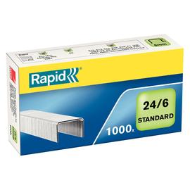 Heftklammern 24/6 STANDARD verzinkt Rapid 24855600 (PACK=1000 STÜCK) Produktbild