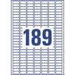 Mini-Etiketten Inkjet+Laser+Kopier 25,4x10mm auf A4 Bögen weiß Zweckform L7658-25 (PACK=4725 STÜCK) Produktbild Additional View 2 S