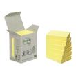 Haftnotizen Post-it Recycling Notes Mini Tower 38x51mm gelb Papier 3M 653-1B (PACK=6x 100 BLATT) Produktbild
