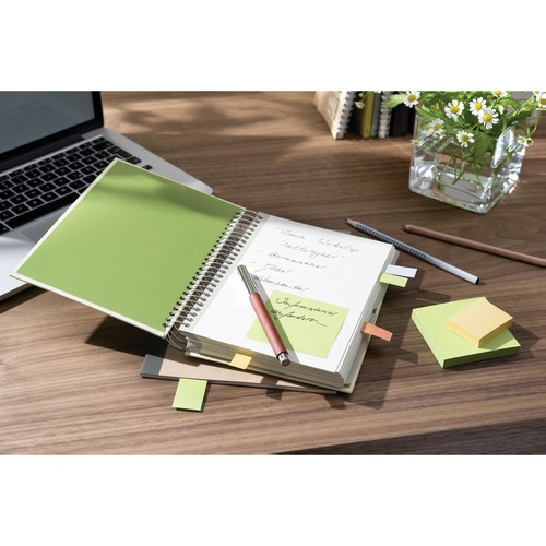 Haftnotizen Post-it Recycling Notes Mini Tower 38x51mm gelb Papier 3M 6531B (PACK=6x 100 BLATT) Produktbild Additional View 4 L