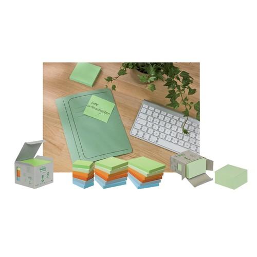 Haftnotizen Post-it Recycling Notes Mini Tower 38x51mm rainbowfarben Papier 3M 6531GB (ST=6x 100 BLATT) Produktbild Additional View 1 L