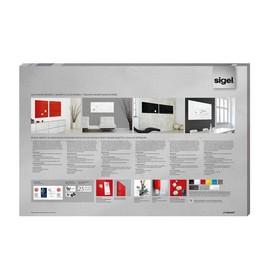 Glas-Magnetboard artverum 1000x650x15mm super-weiß inkl. Magnete Sigel GL141 Produktbild