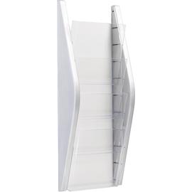 Wand-Prospekthalter A5 220x80x540mm 4 Fächer silber Helit H6270200 Produktbild