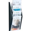 Wand-Prospekthalter A4 280x80x540mm 4 Fächer schwarz Helit H6270195 Produktbild Additional View 1 S