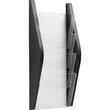 Wand-Prospekthalter A4 280x80x540mm 4 Fächer schwarz Helit H6270195 Produktbild