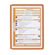 Sichttafeln SHERPA A4 für Tafelträger orange Durable 5606-09 (PACK=5 STÜCK) Produktbild Additional View 1 S