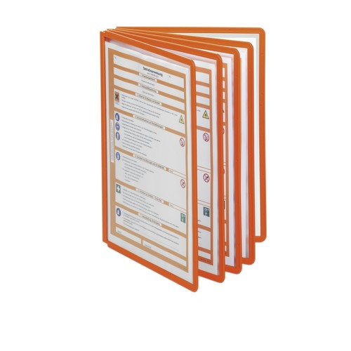 Sichttafeln SHERPA A4 für Tafelträger orange Durable 5606-09 (PACK=5 STÜCK) Produktbild Additional View 2 L