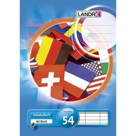 Vokabelheft A5 3 Spalten 40Blatt weiß Landré 100050481 Produktbild
