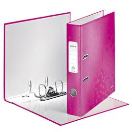 Ordner 180° WOW A4 50mm pink metallic PP Leitz 1006-00-23 Produktbild