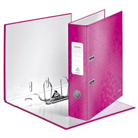 Ordner 180° WOW A4 80mm pink metallic Kunststoff Leitz 1005-00-23 Produktbild