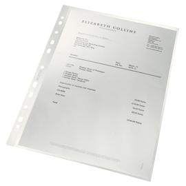 Prospekthülle Recycle oben offen A4 90µ PP genarbt Leitz 4791-00-03 (PACK=100 STÜCK) Produktbild