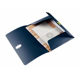 Dokumentenmappe re:cycle mit 3 Klappen A4 für 150Blatt dunkelblau recyceltes PP Leitz 4622-00-69 Produktbild