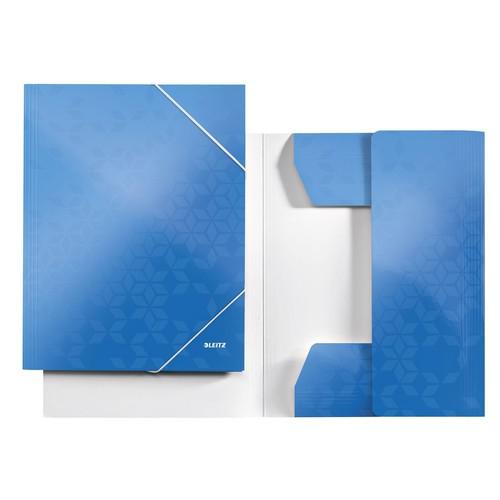 eckspanner wow a4 f r 250blatt blau metallic pp laminierter karton leitz 3982 00 36 kaufen. Black Bedroom Furniture Sets. Home Design Ideas