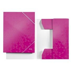 Eckspanner WOW A4 für 250Blatt pink metallic PP-laminierter Karton Leitz 3982-00-23 Produktbild